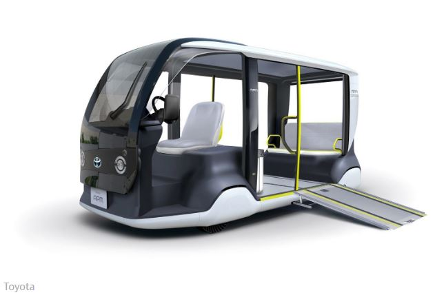 Toyota unveils electric shuttles for 2020 Olympic Games in Tokyocover image.